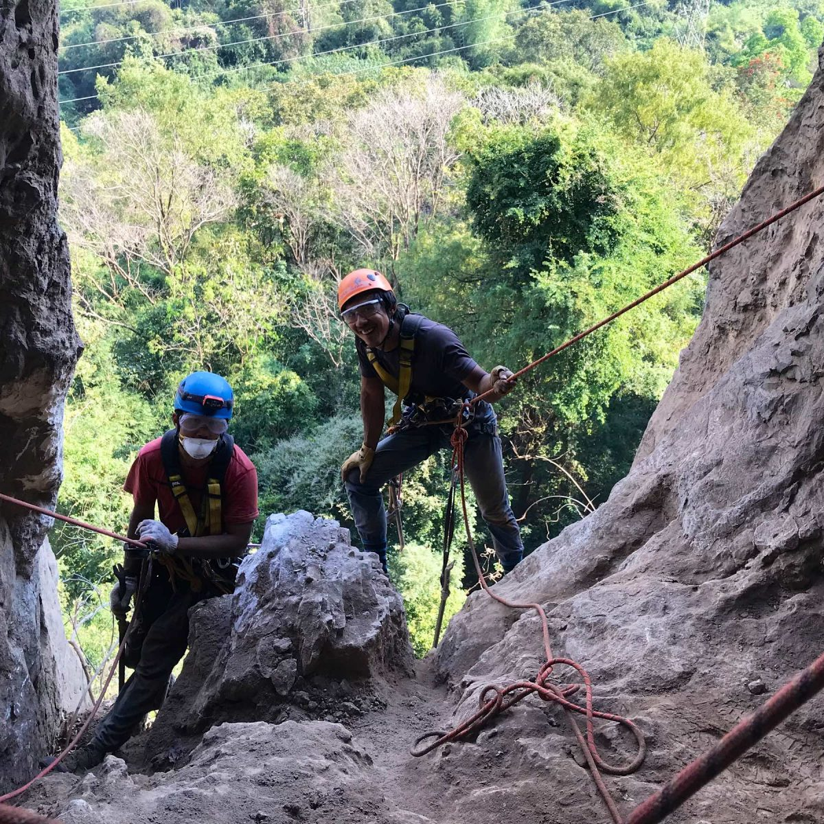 Add and Ooan outside cave at Lampang 2019