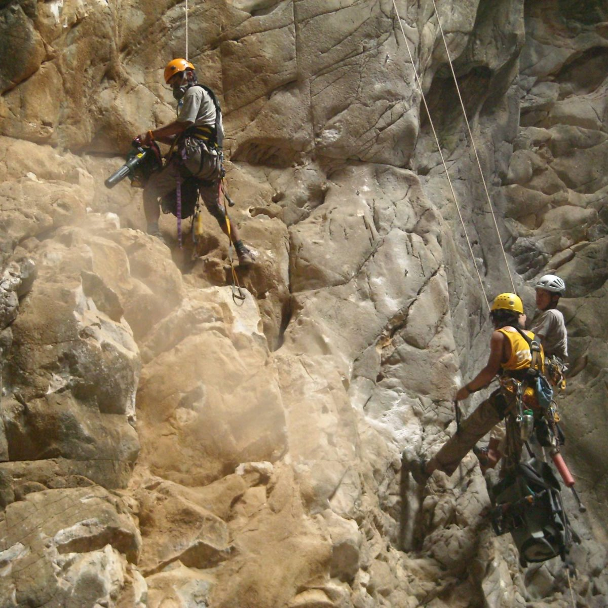 Bolting training with Add and Ooan in ASC Cave - 2010