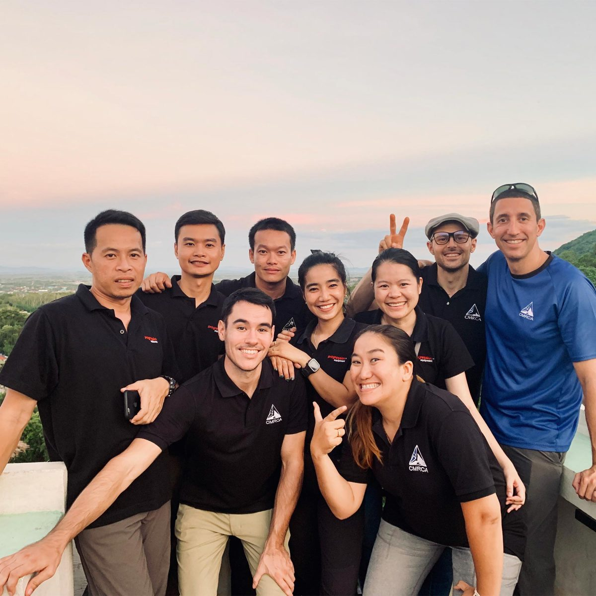 CMRCA staff on a balcony in Chiang Rai