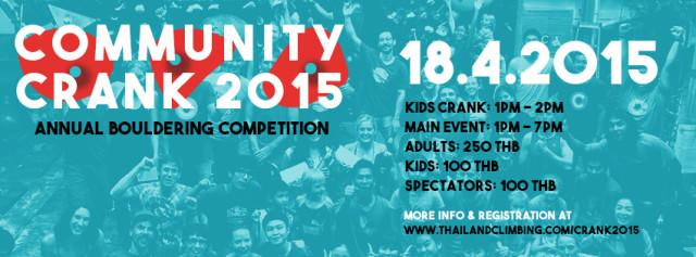 18.4.15 – Community Crank 2015!