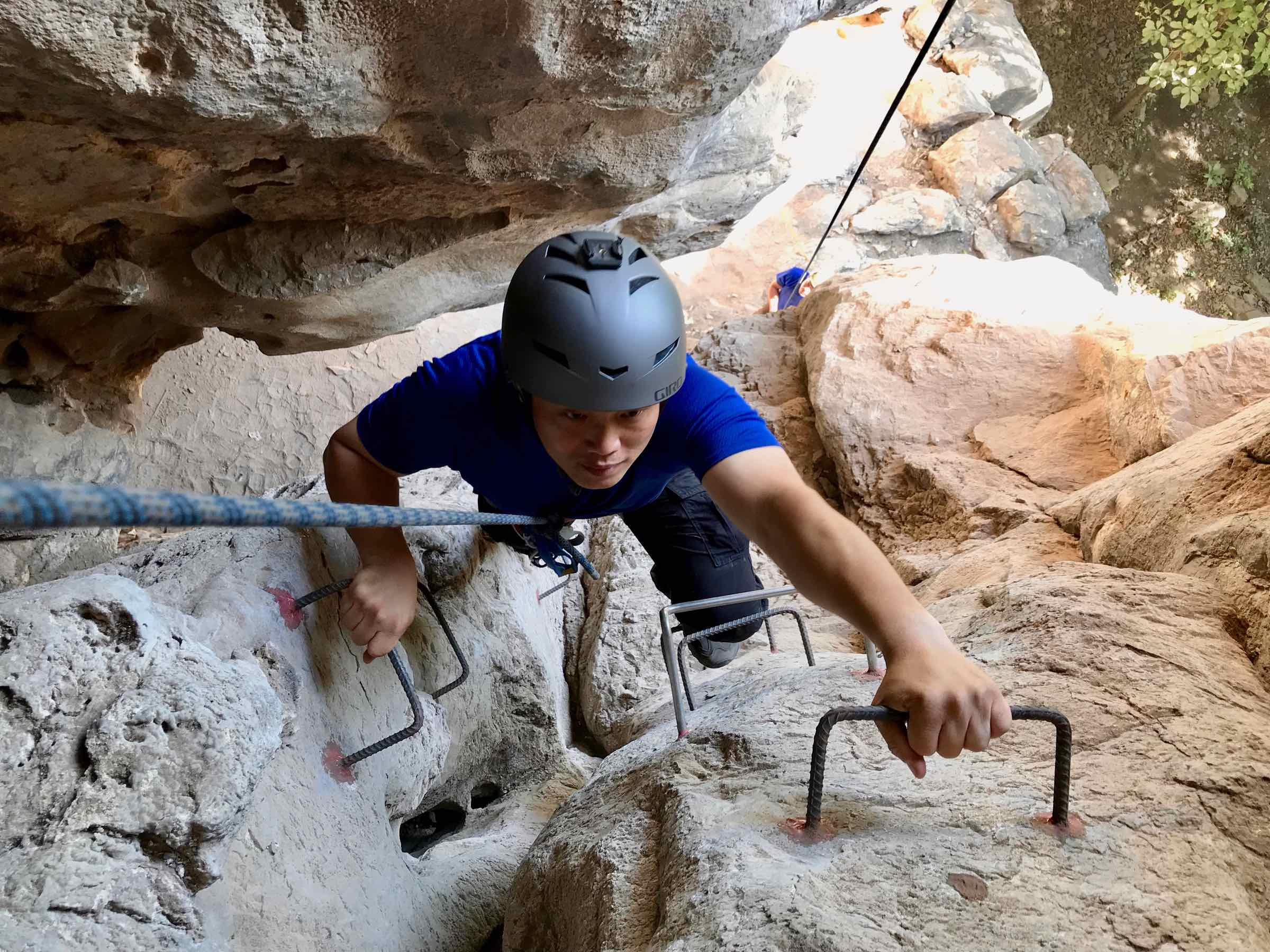 Tripop Climbing The Lampang Via Ferrata