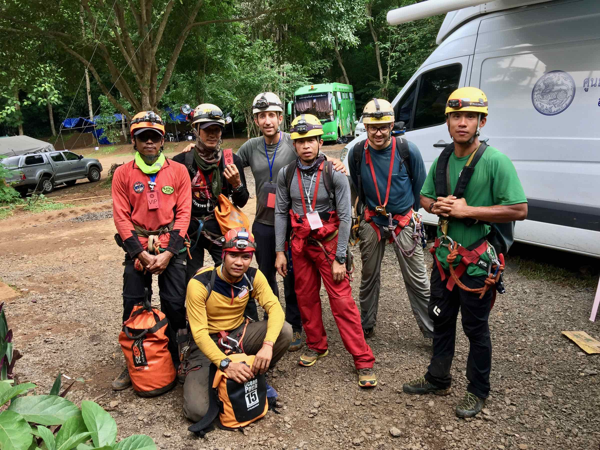 The CMRCA team ready to head into the cave
