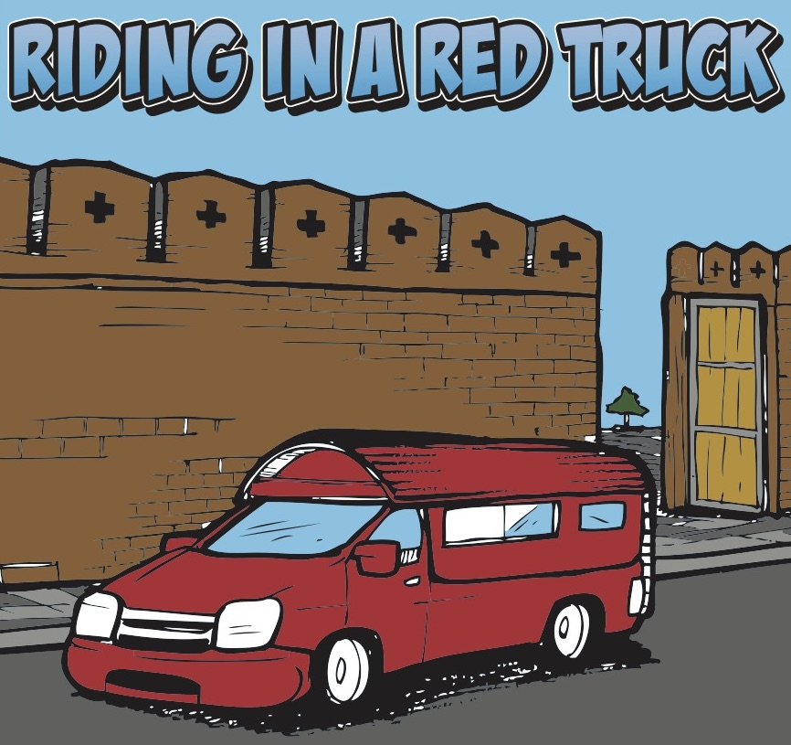 Riding in a Red Truck